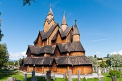 Heddal, Norway's largest stave church / stavkirke, was built in early 13th century, Notodden, Telemark County, Norway, Europe